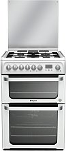 Hotpoint HUD61PS 60cm Double Oven Dual Fuel Cooker