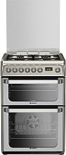 Hotpoint HUD61XS 60cm Double Oven Dual Fuel Cooker