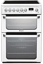 Hotpoint Hue61Ps Ceramic Double Oven Cooker
