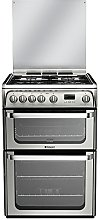 Hotpoint HUG61X Gas Cooker with Gas Grill -