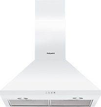 Hotpoint PHPC6.5FLMX 60cm Cooker Hood - White