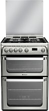 Hotpoint Ultima HUG61X 60cm Double Oven Gas Cooker
