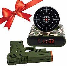 Houkiper Target Alarm Clock With Gun, Target Wake