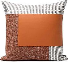 HOUMEL 45cm x 45cm orange leather Splicing gray