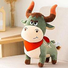 HOUMEL Creative Cartoon Cattle Plush Toy, Cute