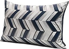 HOUMEL Cushion Cover Grey And White Fabric
