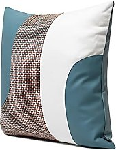HOUMEL Cushion Covers 45cm X 45cm Blue Leather