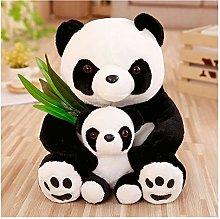 HOUMEL Cute Black Bear Plush Toy, Mini Baby Pillow