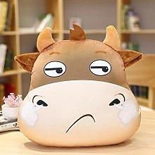 HOUMEL Cute Cow Head Plush Toy, Small Cattle