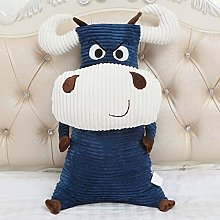 HOUMEL Funny Cow Plush Toy, Cute Navy And Red Baby