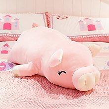 HOUMEL Giant Lying Down Pig Plush Toy, Cute Piggy