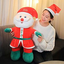 HOUMEL Giant Santa Claus Plush Toy, Cute Christmas