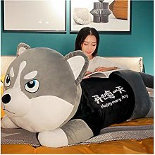 HOUMEL Giant Simulation Husky Plush Cushion White