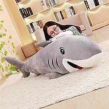 HOUMEL Giant White Shark Plush Toy Sealed Pillows