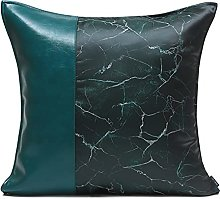 HOUMEL Green Leather Cushion Cover Home Decorative