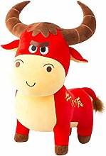 HOUMEL Simulation Cow Plush Toy, Cute Baby Pillow