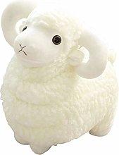 HOUMEL White Simulation Sheep Plush Toy, Cute Baby