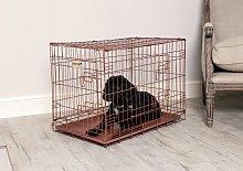 Hound Antique Copper Finish Dog Crate- Large