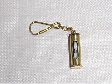 Hour Glass Sand Timer Keyring, Brass - Key Ring /