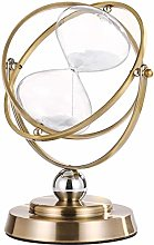 Hourglass Sand Timer 15 Minute, Antique Brass Sand