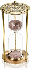 Hourglass Sand Timer 30 Minute, Vintage Brass Sand
