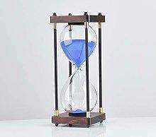 Hourglass Square Wood Bottom Glass Hourglass 30