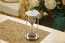 Hourglass Timer, 15 Minutes Metal Hourglass Gold