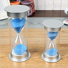 Hourglass Timer Gift Decoration (Color : Purple,