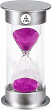 Hourglass Timer Sand Clock 5 Minute: Silver
