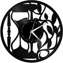 Hourglass Vinyl Wall Clock, Vinyl Record Home