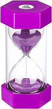 Hourlass Timer 15 Minutes Sand Timer: Plastic Sand