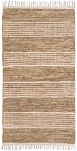 House By Betty - Leather & Jute Recycle Rug -