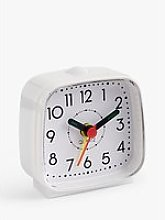 House by John Lewis Analogue Alarm Clock, White