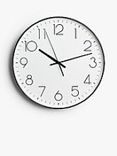 House by John Lewis Analogue Wall Clock, 36cm,