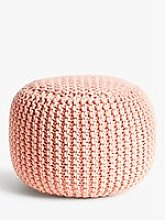 House by John Lewis Chunky Knit Pouffe