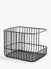 House By John Lewis Stacking Wire Basket, Medium