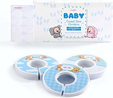 HOUSE DAY Closet Dividers for Baby Clothes, Set of