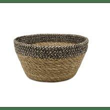 House Doctor - Beige and Black Wicker Bread Basket