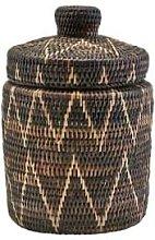 House Doctor - Boylo Dark Rattan Hand Woven Basket