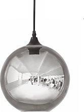 House Doctor - Gray Glass Bulb Lamp - gray | glass