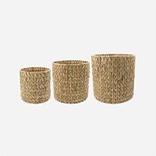 House Doctor - Roun basket set, nature