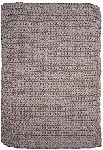 House Doctor Rug, Crochet, Grey, l: 90 cm, w: 60