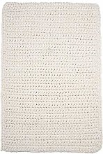 House Doctor Rug, Crochet, White, l: 90 cm, w: 60