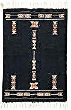 House Doctor Rug Mila, Black, 90 x 60 cm