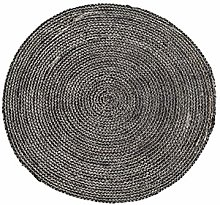 House Doctor Rug Structure, Black, Dia: 100 cm
