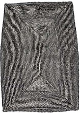 House Doctor Rug Structure, Black, L: 130 cm, W: