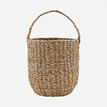 House Doctor - Seagrass Storage Basket With Handle
