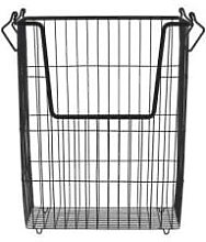 House Doctor - Taw Black Metal Storage Basket Tall
