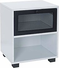 House & Homestyle Bedside Cabinet, Black, Single