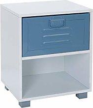 House & Homestyle Bedside Cabinet, Blue, Single